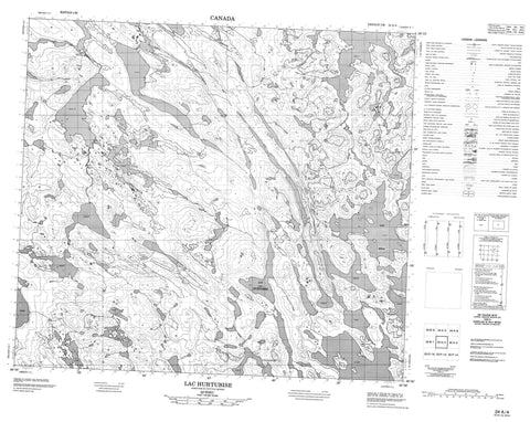 024A04 Lac Hurtubise Canadian topographic map, 1:50,000 scale