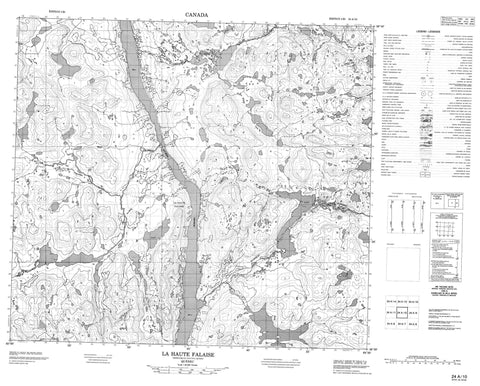 024A10 La Haute Falaise Canadian topographic map, 1:50,000 scale