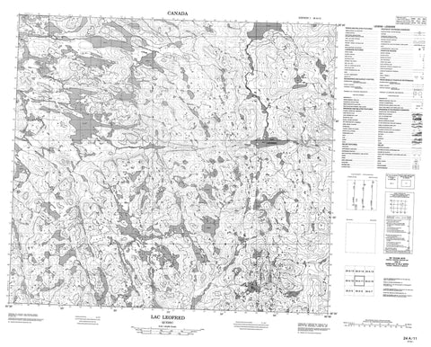 024A11 Lac Leofred Canadian topographic map, 1:50,000 scale