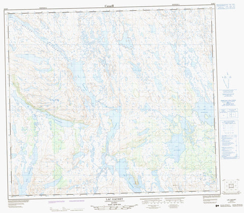024B03 Lac Gachet Canadian topographic map, 1:50,000 scale