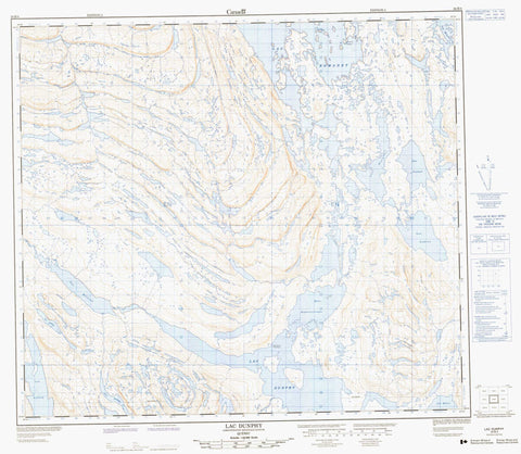 024B04 Lac Dunphy Canadian topographic map, 1:50,000 scale