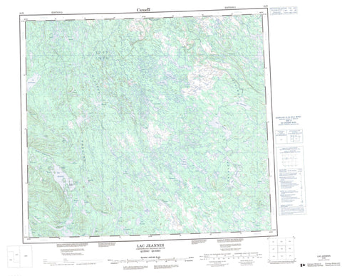 024B Lac Jeannin Canadian topographic map, 1:250,000 scale