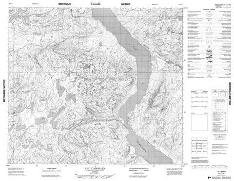 024C06 Lac Cambrien Canadian topographic map, 1:50,000 scale