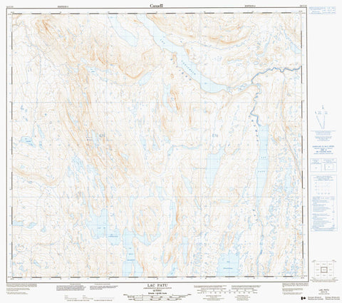 024C10 Lac Patu Canadian topographic map, 1:50,000 scale