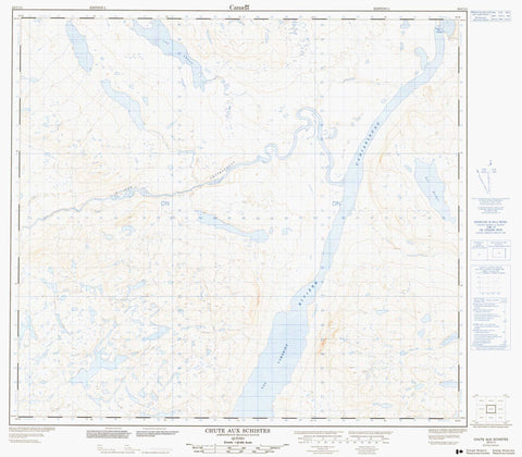 024C11 Chute Aux Schistes Canadian topographic map, 1:50,000 scale