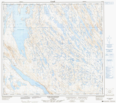 024C15 Fort Mackenzie Canadian topographic map, 1:50,000 scale