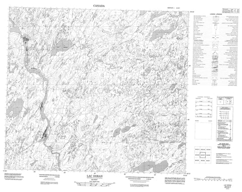 024D07 Lac Doran Canadian topographic map, 1:50,000 scale
