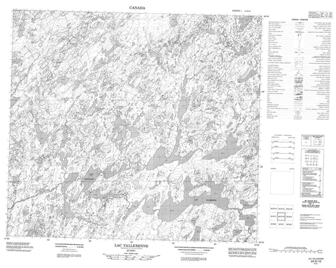 024D10 Lac Vallerenne Canadian topographic map, 1:50,000 scale