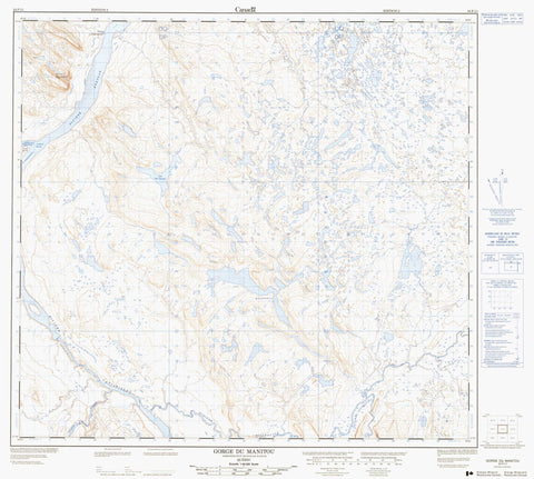 024F11 Gorge Du Manitou Canadian topographic map, 1:50,000 scale