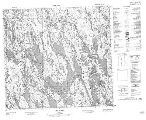 024G10 Lac Guers Canadian topographic map, 1:50,000 scale