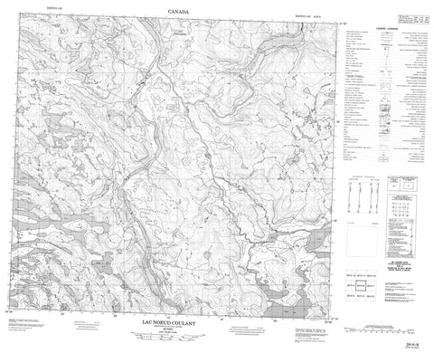 024H06 Lac Noeud Coulant Canadian topographic map, 1:50,000 scale