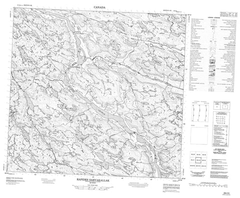 024I04 Rapides Sarvakallak Canadian topographic map, 1:50,000 scale