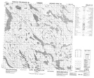 024I05 Lac Kupaaluk Canadian topographic map, 1:50,000 scale