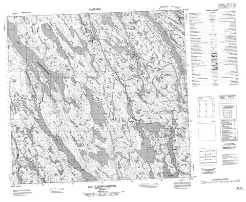 024J01 Lac Tasirpaarusiq Canadian topographic map, 1:50,000 scale