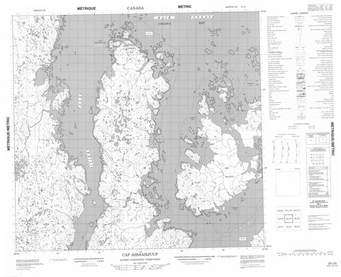 024J05 Cap Assaasijuup Canadian topographic map, 1:50,000 scale