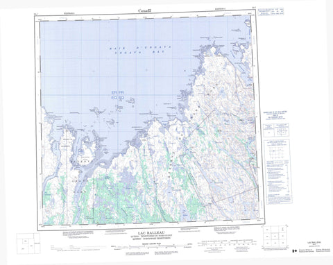 024J Lac Ralleau Canadian topographic map, 1:250,000 scale