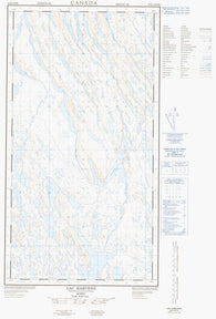 024K05E Lac Harveng Canadian topographic map, 1:50,000 scale