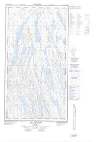 024K05W Lac Harveng Canadian topographic map, 1:50,000 scale