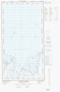 024K09E Anchor Island Canadian topographic map, 1:50,000 scale