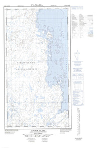 024K09W Anchor Island Canadian topographic map, 1:50,000 scale