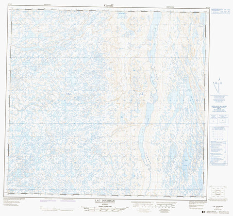 024L01 Lac Jourdan Canadian topographic map, 1:50,000 scale
