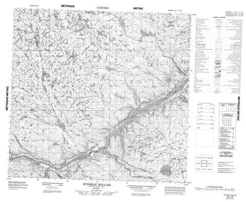 024L06 Ruisseau Boulain Canadian topographic map, 1:50,000 scale
