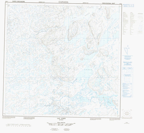 024M01 Lac Ford Canadian topographic map, 1:50,000 scale