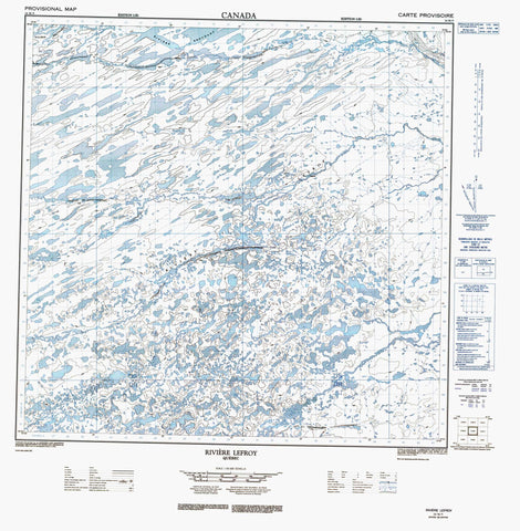 024M09 Lac Lefroy Canadian topographic map, 1:50,000 scale