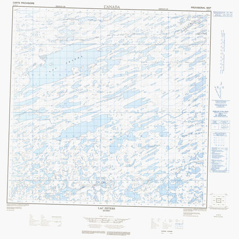 024M10 Lac Peters Canadian topographic map, 1:50,000 scale