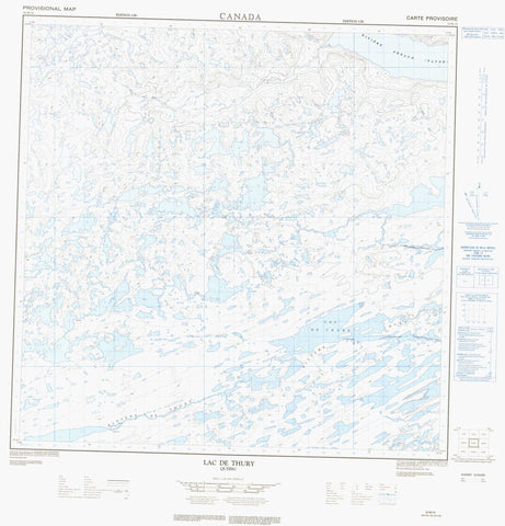 024M15 Lac De Thury Canadian topographic map, 1:50,000 scale