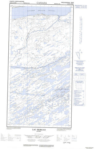 024M16W Lac Morgan Canadian topographic map, 1:50,000 scale