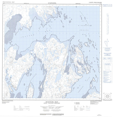 024N03 Ikattok Bay Canadian topographic map, 1:50,000 scale