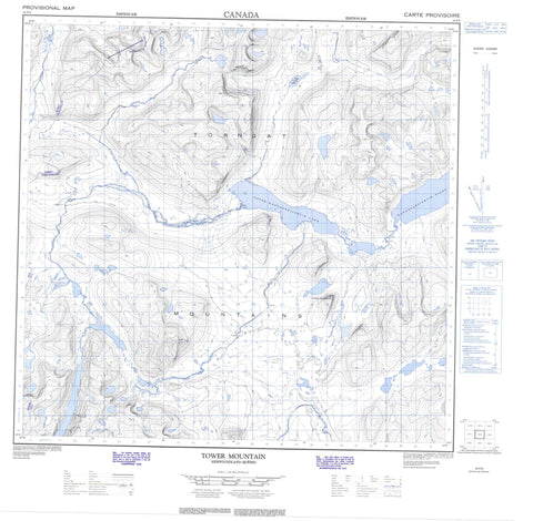 024P08 Tower Mountain Canadian topographic map, 1:50,000 scale