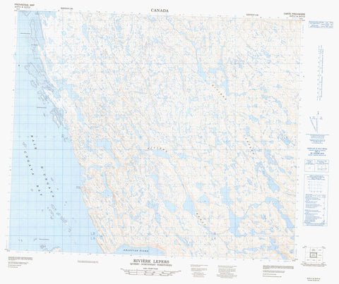 024P11 Riviere Lepers Canadian topographic map, 1:50,000 scale