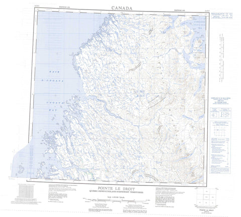 024P Pointe Le Droit Canadian topographic map, 1:250,000 scale