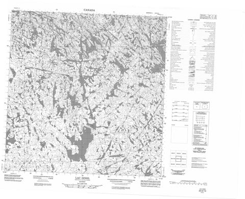 025D13 Lac Dinel Canadian topographic map, 1:50,000 scale