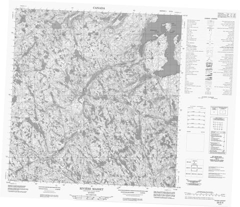 025E04 Riviere Masset Canadian topographic map, 1:50,000 scale
