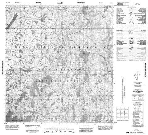 025K14 No Title Canadian topographic map, 1:50,000 scale