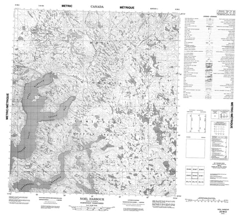 025M02 Noel Harbour Canadian topographic map, 1:50,000 scale