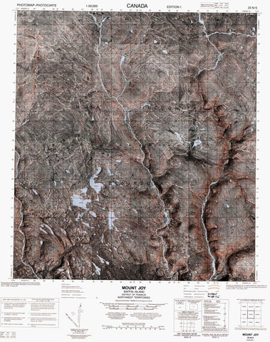 025N05 Mount Joy Canadian topographic map, 1:50,000 scale