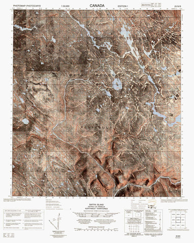 025N06 No Title Canadian topographic map, 1:50,000 scale