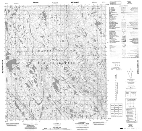 025N16 No Title Canadian topographic map, 1:50,000 scale