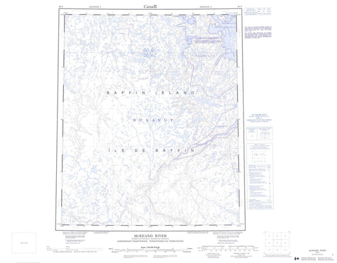 026F Mckeand River Canadian topographic map, 1:250,000 scale