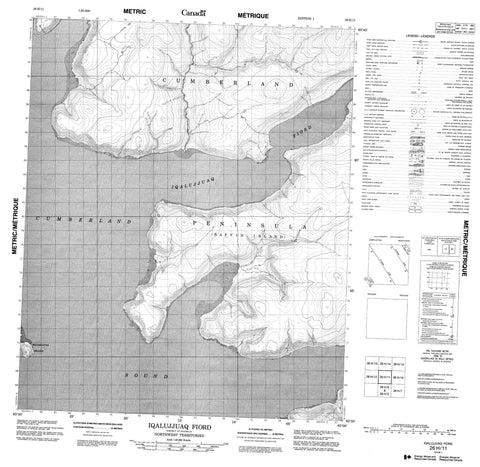 026H11 Iqalujjuaq Fiord Canadian topographic map, 1:50,000 scale