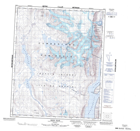 026I05 Moon Peak Canadian topographic map, 1:50,000 scale