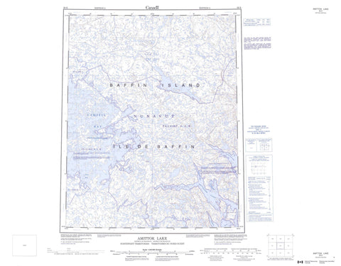 026K Amittok Lake Canadian topographic map, 1:250,000 scale