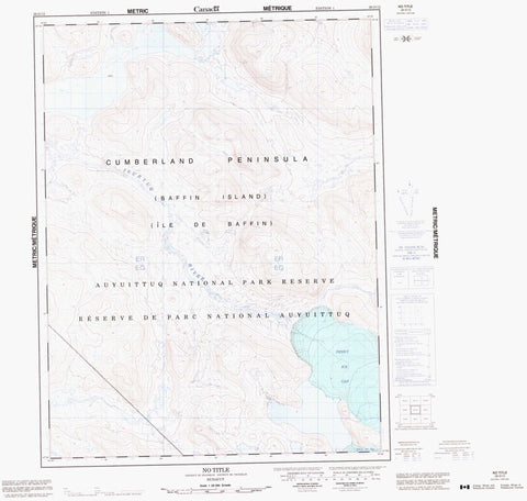 026O12 No Title Canadian topographic map, 1:50,000 scale