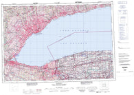 030M Toronto Canadian topographic map, 1:250,000 scale