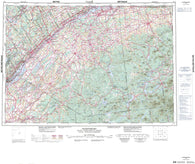 031B Ogdensburg Canadian topographic map, 1:250,000 scale
