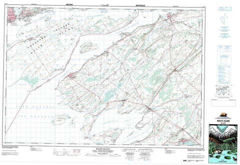 031C01 Wolfe Island Canadian topographic map, 1:50,000 scale
